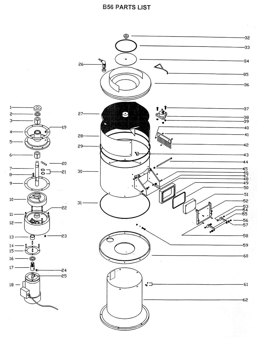 bold b56 parts list